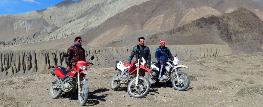 Motor bike tour in nepal and Himalaya