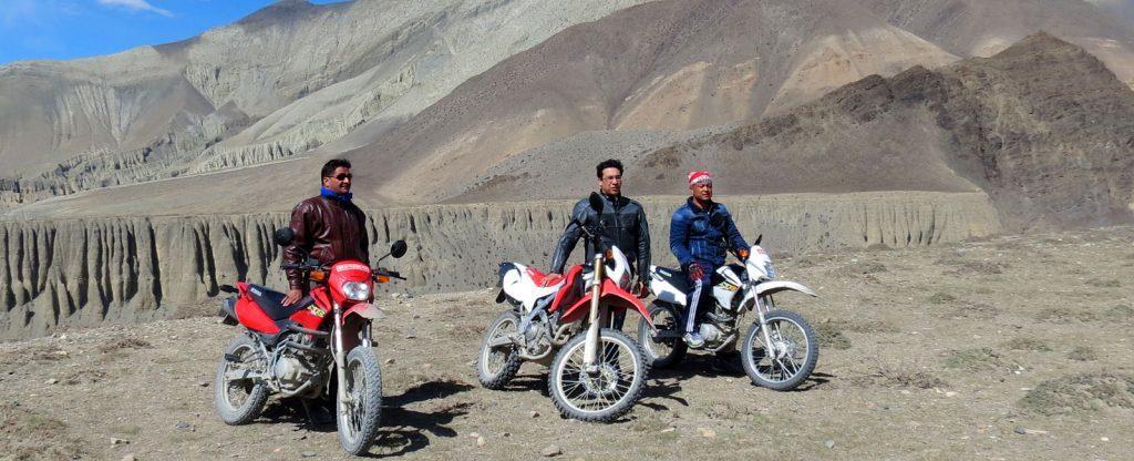 Motor bike tour in nepal and Himalaya